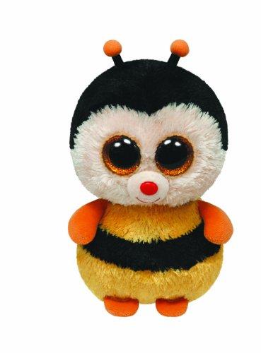 TY 7136066 7136066-Sting-Biene Beanie Boos, 15 cm, gelb