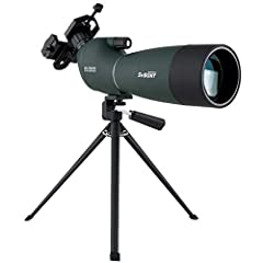 25-75x zoom;SV28 spotting scope is easy to focus and change magnification;easily set up when looking at birds and scenery;A great spotting scope for beginner to novice 70mm large object lens;More powerful light gathering ability;70mm tube allows plen...