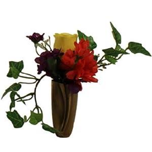 Niche DIY Crypt Silk Flower Rose Delphinium Bell Ivy
