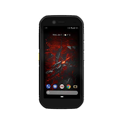 CAT Phone Cat S42 Smartphone - 4G Rugged Phone (IP68, MIL SPEC 810H, Super Bright 5.5 inch HD+ Display, 1.8GHz Quadcore Processor, 4200mAh Battery, Dual SIM, 3GB/32GB, Android 10) - Black