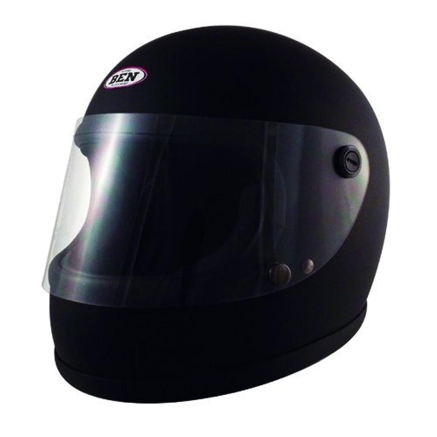 放散する足首モナリザTNK工業 スピードピット ヴィンテージスタイル フルフェイスヘルメット B60 マッドブラック 51180 フリー (頭囲 58cm~59cm)