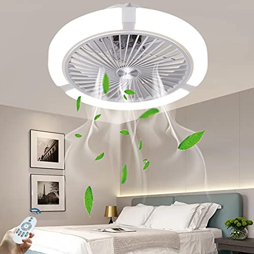 Ventilador De Techo LED Moderno Luz Para Dormitorio Ventilador De Techo Silencioso Invisible Luz Velocidad Del Viento Ajustable Con Control Remoto Ventilador De Estudio Accesorio De Iluminación