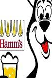Generic Brands Hamm's Beer Bear Art Poster Zinn Wandschild