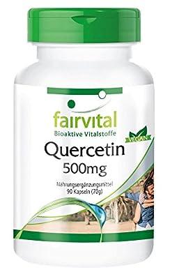 Quercetin 500mg - 90 vegan capsules by fairvital