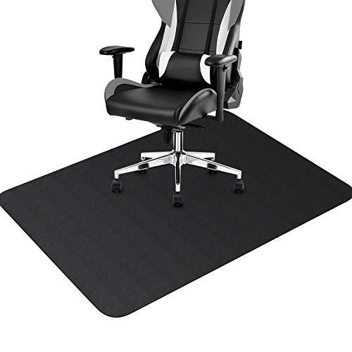 BEVA チェアマット ズレない 床保護マット 90×120cmカーペット 厚さ1.5mm デスク足元マット 抗菌 防カビ 床の傷防止 すべり止め フローリング 机下/椅子/フロア/畳/床暖房対応/オフィス(ブラック)