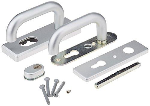 ABUS Tür-Schutzbeschlag KKZS700 F1 aluminium für Feuerschutztüren mit beidseitigem Drücker 12859