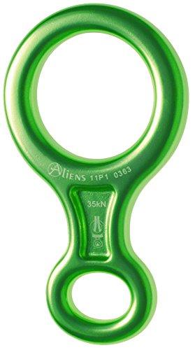 ALIENS Abseilachter Mittel eloxiert, Farbe:grün
