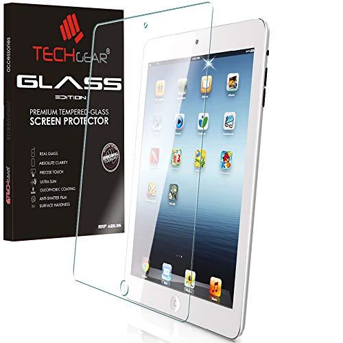 TECHGEAR Vetro Temperato Compatibile con iPad 4, iPad 3 e iPad 2 - Autentica Pellicola protecttiva in Vetro Temperato Salvaschermo [Bordo 2.5D] [Durezza 9H] [Resistente ai Graffi] [Ultra Chiaro]