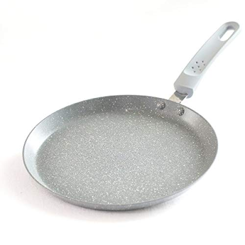 22Cm braadpan anti-aanbaksteen steen platte bodem koekenpan