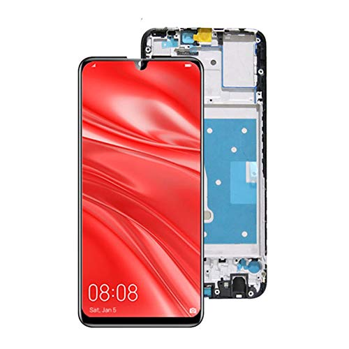 Reemplazo de Pantalla Blanco Original Probado 6.21 '' 10-Touch Pantalla con Ajuste De Marco Fit For Huawei P Smart 2019 LCD Pantalla Táctil Digitalizadora Pot-LX1 L21 LX3 Digitalizador de la Pantalla