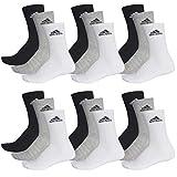 adidas 18 Paar Performance CUSHIONED CREW 3p Tennissocken Sportspocken Unisex, Farbe:032 - grey melange, Socken und Strümpfe:43-45
