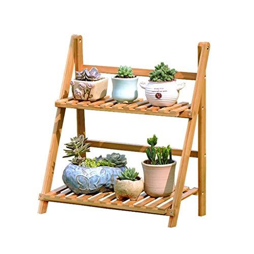 YINUO Cadre de fleur Type de plancher en bois massif de bambou multicouche Pliante étagère à fleurs Balcon intérieur Support de pot de fleurs charnu