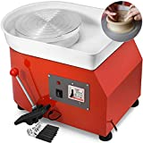 Mophorn Pottery Wheel 25cm Pottery Forming Machine 350W Electric Pottery Wheel with Adjustable Feet Lever Pedal DIY Clay Tool with Tray for Ceramic Work Clay Art DIY Clay