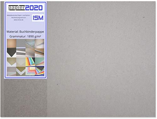 20 Stück echte, hochwertige Buchbinderpappe; 3,0mm; DIN A3