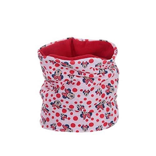 Disney Minnie Maus Schlauchschal, Schal mit Fleece - One Size inkl. Minnie Maus Maske zum Aufziehen