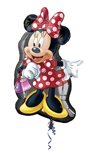 Amscan Anagram 2637401 - Party und Dekoration - Folienballon Super Shape - Disney Minnie Mouse, circa 48 x 81 cm