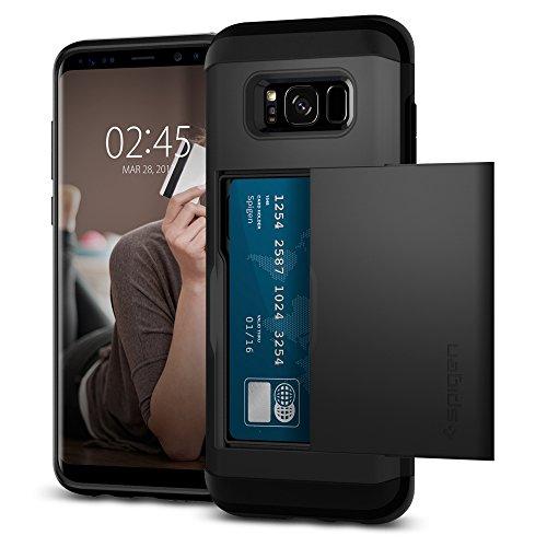 Samsung Galaxy S8 Plus Hülle, Spigen® Slim Armor CS Kartenfach Doppelte Schutzschicht Handyhülle Schutzhülle für Samsung Galaxy S8 Plus Case Black