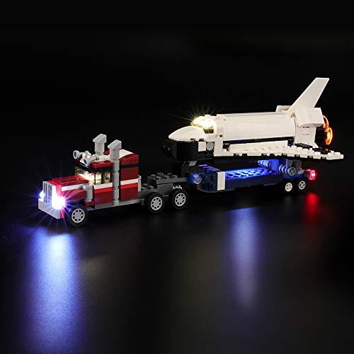 BRIKSMAX Led Beleuchtungsset für Lego Creator Transporter für Space Shuttle, Kompatibel Mit Lego 31091 Bausteinen Modell - Ohne Lego Set