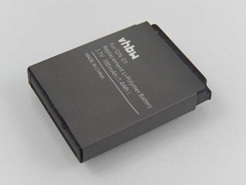 vhbw Akku kompatibel mit Smartwatch DZ-09, DZ09, FYM-M9, GT-08, GT08 A1, HKX-S1, LQ-S1, QN-01, QN01 Uhr Fitnessarmband (380mAh, 3,7V, Li-Polymer)