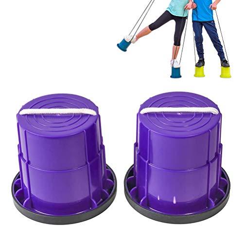 juguete al aire libre correr caminar entrenamiento color aleatorio escuela juguete para el equilibrio jard/ín Vosarea 6 zancos para ni/ños en maceta guarder/ía educaci/ón temprana