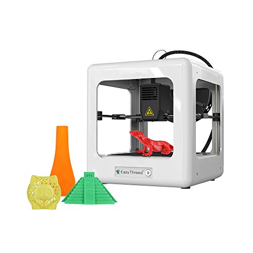Deofficially EasyThreed Nano Entry Level Desktop 3D Printer for Kids Students No Assembling Quiet Working Easy Operation High Accuracy