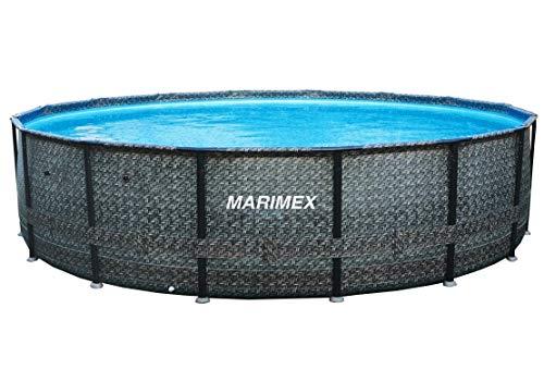 Marimex Florida Swimmingpool Premium Ratan I Stahlwandpool für Garten I 4,57x1,32 m I ohne Zubehör