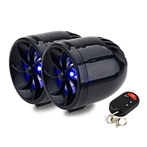 TOOGOO(R) Negro 12V Impermeable Mini Multifuncion Motocicleta Audio Amplificador iPod de tarjetas SD / MMC USB MP3 Jugador FM Radio Coche Alarma Altavoz