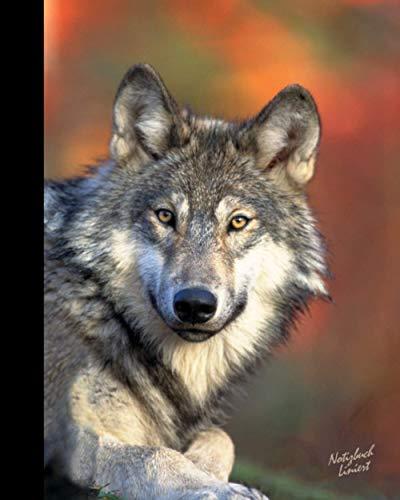 Notizbuch Liniert: Wolf Geschenke für Tierliebhaber; ein schönes Notizbuch (Taschenbuch, etwas kleiner als A4, mit Inhalt & 100 Seiten) Aus unserem Wolf Sortiment (Notizbücher, Band 18)