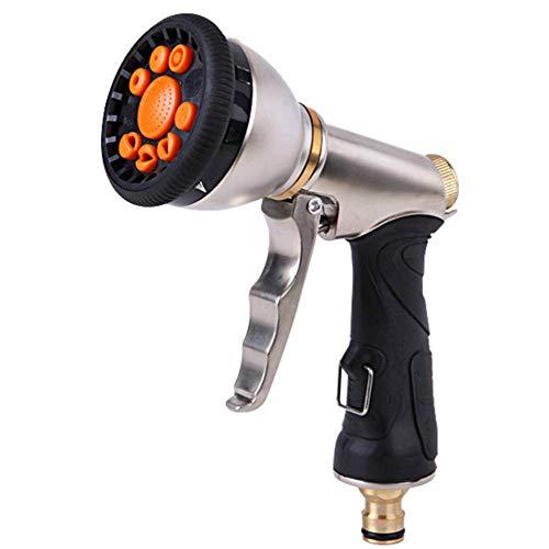 Douchekop Hoge druk Metalen Spray Gun Tuinslang Nozzle Heavy Duty met 9 Verstelbare Patronen voor het besproeien van gazon Tuin Huisdieren Douche