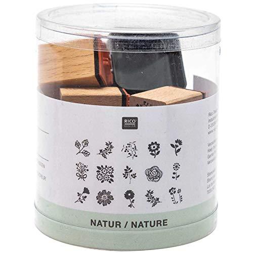 Rico Design - Timbri Nature (fiori e foglie), set da 16