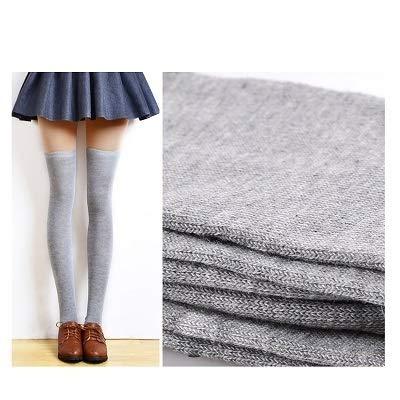 Tivivose Las Mujeres de la Moda Caliente Atractivo Media Alta del Muslo sobre la Rodilla Calcetines Largos Medias del algodón for Las Mujeres señoras niñas Mujer (Color : 1pair Style 5)