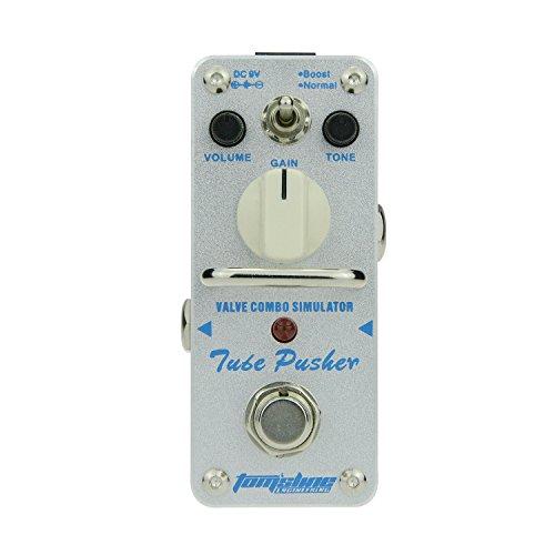 Tom'sline Engineering PedaldeefectodeoverdrvieTUBEPUSHER ATP-3 Recreación de un tubo clásico overdrive tono de una válvula combo amplificador Dos modos de impulso de la marca Aroma Music