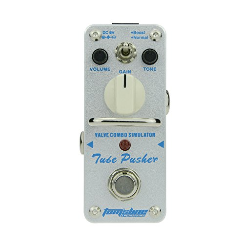 Overdrive effect pedal TUBE PUSHER Recreation of a classic tube overdrive tone...
