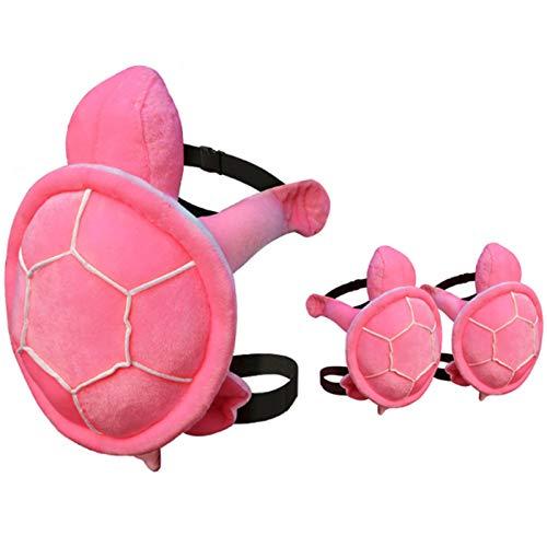 TWW Schutzausrüstung Für Skiwindeln, Po-Pad, Hockeyhose, Skating-Kinder, Jungen Und Mädchen, Furnier-Knieschoner, Outdoor-Sportschutz-Pads,Rosa