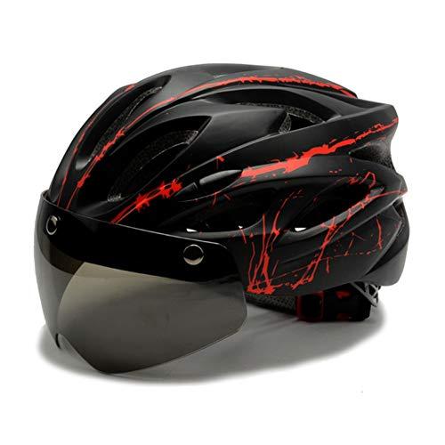 LJHJH Fahrradhelm, spezialisiert für Herren und Damen, Sicherheitsschutz, leicht, mit reflektierenden Streifen und Entfernung.