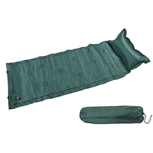 N/ Picnic Beach Mat Single Inflatable Bed Outdoor Portable Camping Mat Self-Inflatable Roller Pillow Air Mattress-183X57X2.5Cm-Green