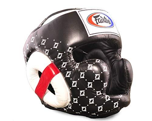 Fairtex Kopfschutz Spuer Sparring HG10, schwarz/weiß, M
