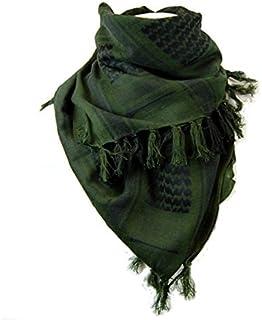 アフガンストール アラブストール  スカーフ  シュマグ  マフラー  Cotton 100% (グリーン)