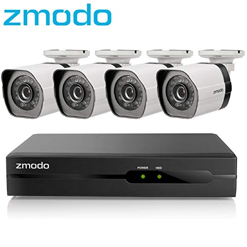 Lowest Prices! Zmodo 4 Channel 720p Simplified PoE Surveillance Camera System Intelligent Video Clou...