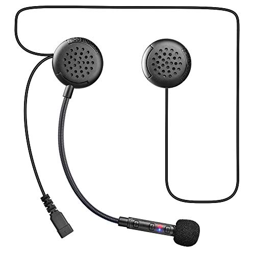 Fodsports F1 Auriculares Intercomunicador Bluetooth 5.0 Motocicleta Moto Intercom Headset FM Radio Manos Libres Inalámbricos Estéreos Communication
