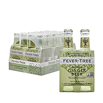 Fever-Tree Premium Ginger Beer No Artificial Sweeteners Flavourings or Preservatives 6.8 Fl Oz  Pack of 24