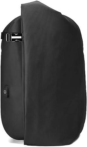 Btzdb male Mode Sac à Dos de Voyage Grande capacité Multifonction Sac à Dos avec USB 39,6cm Sac à Dos pour Ordinateur Portable Noir