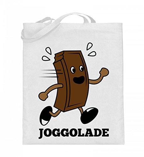 Chorchester Hochwertiger Jutebeutel (mit langen Henkeln) - Joggolade -Für Schokoladen Fans!