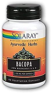 Solaray - Bacopa Ayurvedic Herbs, 100 mg, 60 capsules (2 Pack)