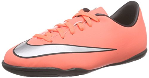Nike Jungen Mercurial Victory V IC Fußballschuhe, Orange (Bright Mango/Hyper Turquoise/Metallic Silver), 35.5 EU