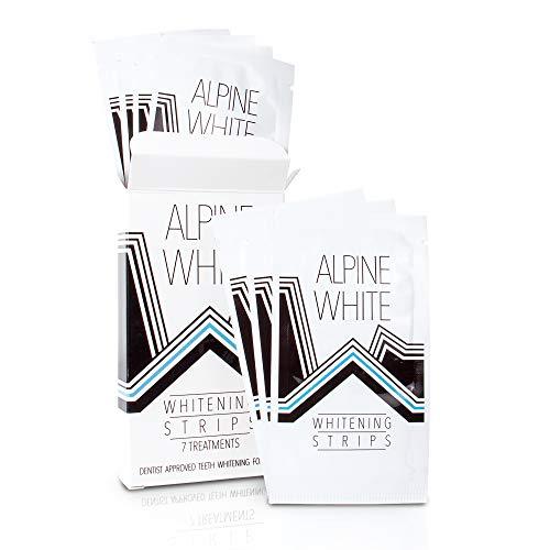 ALPINE WHITE Whitening Strips für sichtbar weißere Zähne in nur 3 Tagen – Professionelles Zahnbleaching, entwickelt und geprüft von Zahnärzten und Dentalexperten I 7 Anwendungen (14x Bleaching Strips)