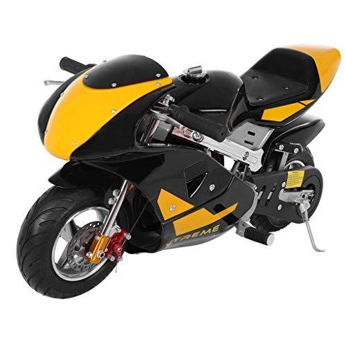 2020 Mini Gas Pocket Bike 49cc 4 Stroke, Support Up to 200 lbs, Perfect Mini Pocket Bike for Kids (Yellow)