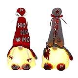 Gnomo de Navidad 2 Piezas, Muñeco sin Rostro con Patas Largas de Punto, figuras de duende enano de Navidad Gonk, decoración de mesa, adorno de mesa navideño, regalos