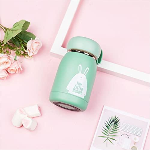 Smart Mini frasco de vacío taza de agua 304 de acero inoxidable lindo creativo de dibujos animados taza de agua taza de medición de temperatura taza creativa taza de café botella (350 ml)