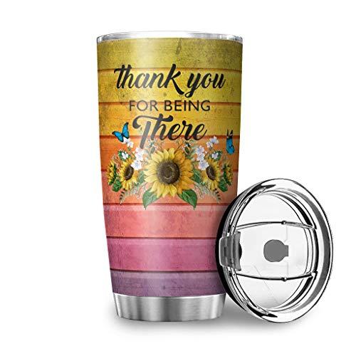 Grazie, dass du lì bist tazza con coperchio resistente agli schizzi, tazza da viaggio in acciaio inox, tazza termica 3D, riutilizzabile e isolata, mantiene il caldo e il freddo, 600 ml